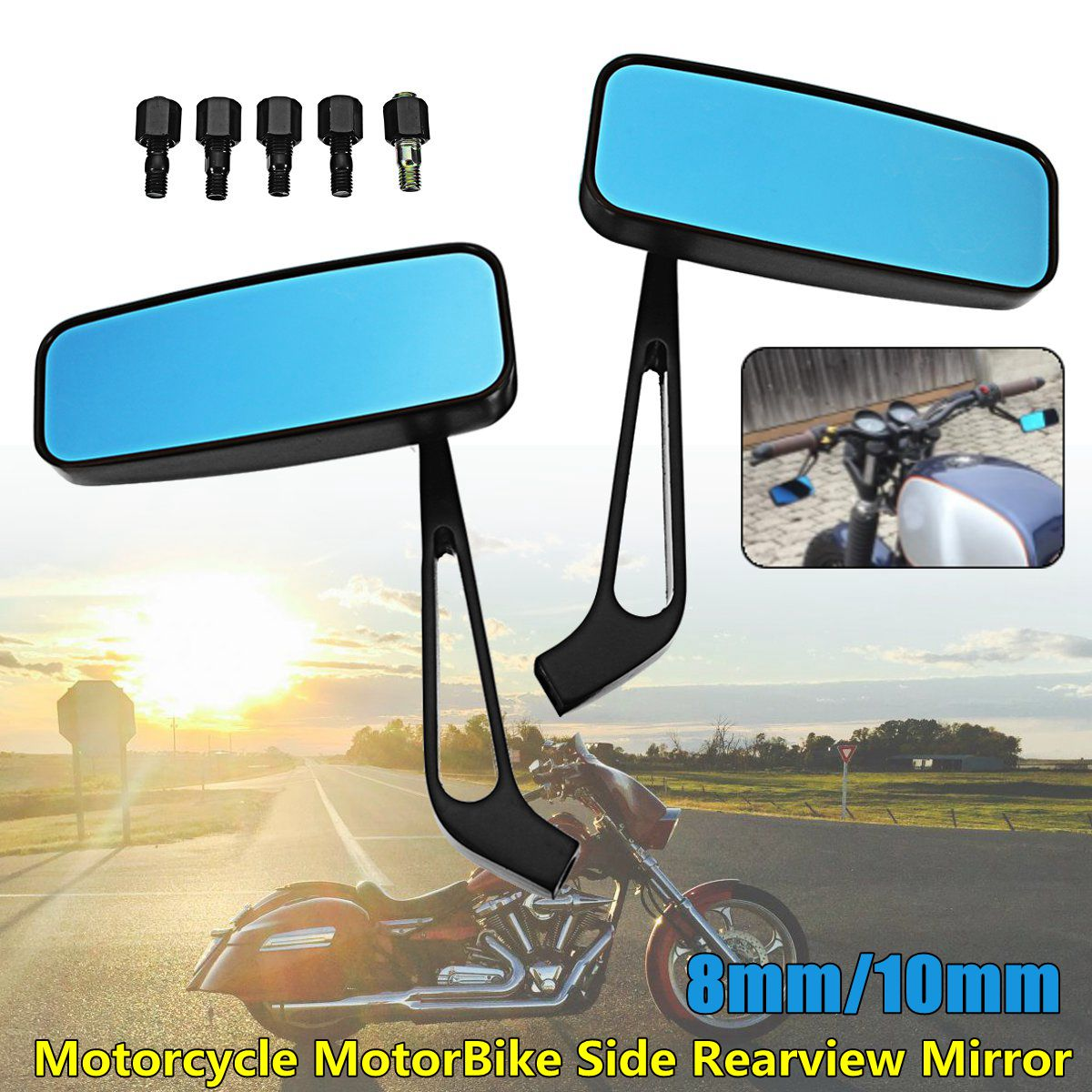 8mm 10mm motorcycle rear view miirors
