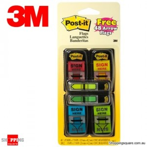 3M Post-it Printed Flags Value Pack