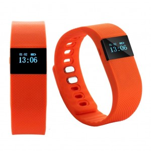 TW64 Bluetooth 4.0 Smart Wristband Sports Activity Tracker Red Colour