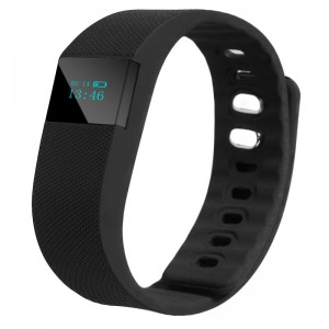 TW64 Bluetooth 4.0 Smart Wristband Sports Activity Tracker Black Colour
