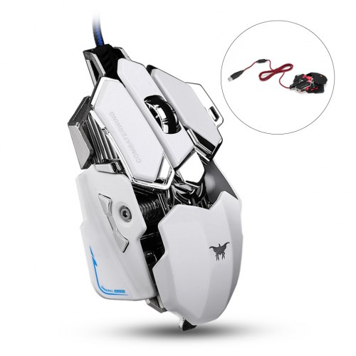 Antiee CW-80 Combaterwing 4800 DPI Optical USB Wired Professional Gaming Mouse RGB LED White