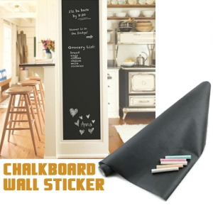 17.7 x 78.7Inch Black Chalkboard Blackboard Wall Sticker for Home School Office with Chalks