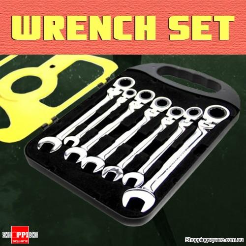 7 Pcs Set of Ratchet Wrench Repair Home Maintenance Tool Equipment
