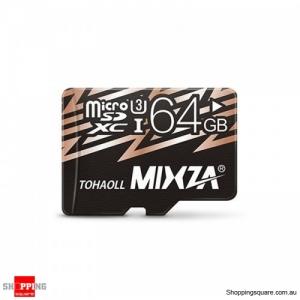 MIXZA U3 4K Micro SD Card UHS-I Flash TF Card Class10 -64 GB