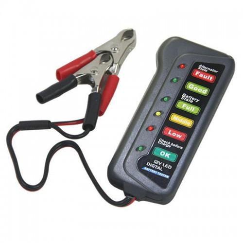 12V Lead-acid 6-LED Battery Tester for Car Motorcycle