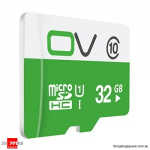 0V Class 10 MIcro SD TF Card 80MB/s Transmission Speed UHS-1 Waterproof - 32GB