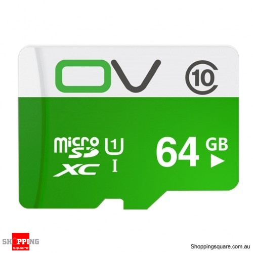 0V Class 10 MIcro SD TF Card 80MB/s Transmission Speed UHS-1 Waterproof - 64GB
