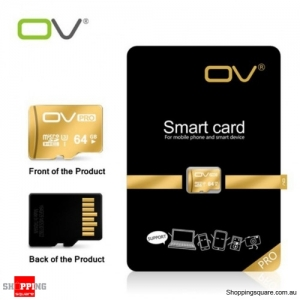 0V Class 10 Micro SD Memory Card 95MB/s SDHC TF for Storage - 64GB