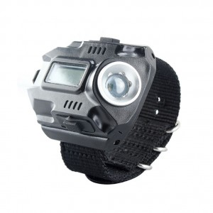 Cree XPE-Q5 Rechargeable Wrist Watch LED Flashlight