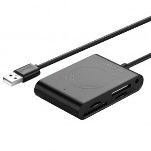 UGreen USB 2.0 Card Reader 3 Port USB Hub Memory SD Card Reader
