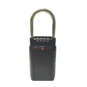 Key Storage Box Security Lock with 4 Digit Password Combination Black Colour