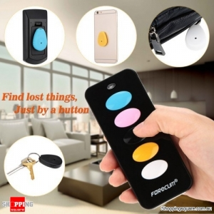 5 Pcs of Wireless Electronic Key Ring Finders with Intelligent Search Remote Control Device - Black