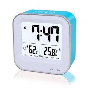Digital Desk Weather Station Alarm Clock with Temperature and Humidity