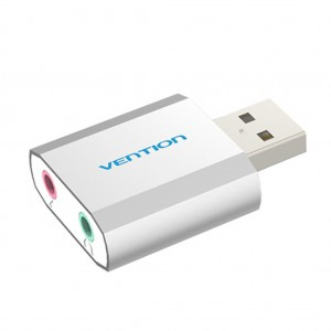 Vention VAB-S13 USB2.0 3D Audio Adapter PC Sound Card for Windows Mac