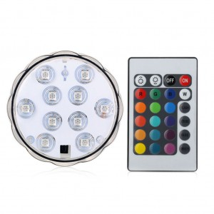 Waterproof 10LEDs Submersible LED Light with Remote Control