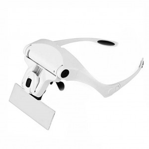 2 LED Eyeglasses Reading Magnifier 1X / 1.5X / 2.0X / 2.5X / 3.5X