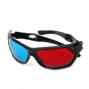 5Pcs Red and Blue 3D Anaglyph Glasses for Games Movies