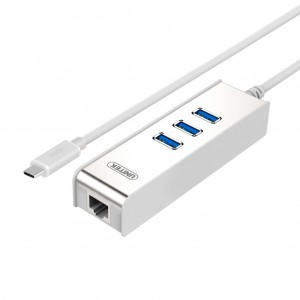 UNITEK Y-3051D Type-C to Gigabit Ethernet Adapter with 3 USB 3.0 Ports