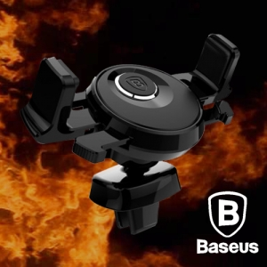 Baseus Universal Car Air Vent Mount Holder for iPhone Samsung Black Colour