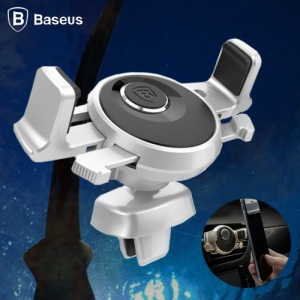 Baseus Universal Car Air Vent Mount Holder for iPhone Samsung Silver Colour