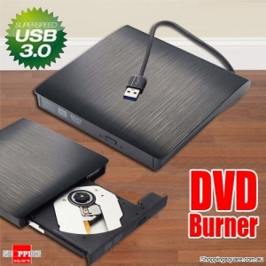 External USB 3.0 DVD CD Drive Burner - Black Colour