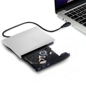 External USB 3.0 DVD CD Drive Burner - Silver Colour