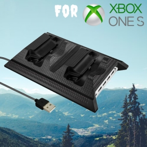 4 in 1 Charging Station with Cooling Fan for XBOX ONE S Controller