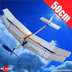Elastic Rubber Band Powered Airplane Model Kit Toy