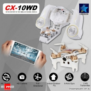 Cheerson CX-10WD WiFi Mini RC Quadcopter RTF 0.3MP Camera Wi-Fi FPV Gold Colour