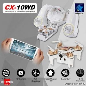Cheerson CX-10WD WiFi Mini RC Quadcopter RTF 0.3MP Camera Wi-Fi FPV Gold Colour