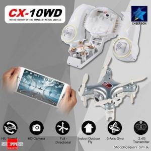 Cheerson CX-10WD WiFi Mini RC Quadcopter RTF 0.3MP Camera Wi-Fi FPV Silver Colour