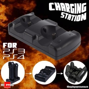 2 in 1 Dual USB Charging Station Dock for PS4 VR/PS3/PS3 Move Gamepad Controller