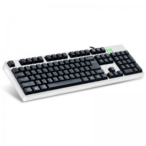 Motospeed K40 USB Wired Optical Gaming Keyboard for PC Laptops - White Colour