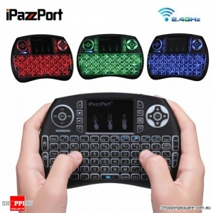 Wireless Mini Keyboard Backlight Function with Touchpad