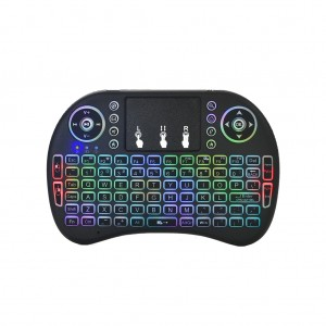i8 2.4G Wireless Mini Colourful Backlit Keyboard Mouse with Touchpad
