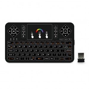 Q9 2.4GHz Colourful Backlit Wireless Mini Keyboard Mouse with Touchpad