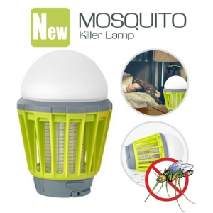 Rechargeable Waterproof Mosquito Killer Repellent for Indoor & Outdoor Camping LED Light Green Colour