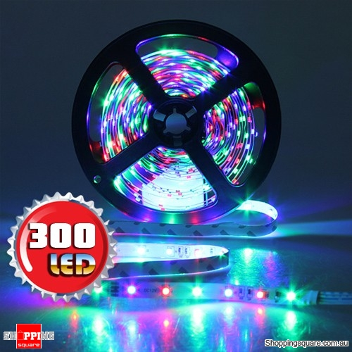 5M Non-Waterproof 300 LEDs SMD 3528 Flexible Strip Light DC12V RGB Colour