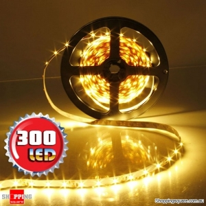 5M Non-Waterproof 300 LEDs SMD 3528 Flexible Strip Light DC12V Warm White Colour