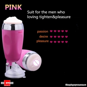 Men's X5 Handsfree Masturbation Vibrating Cup Vagina Electric Suction Pussy Sex Toy Pink Colour