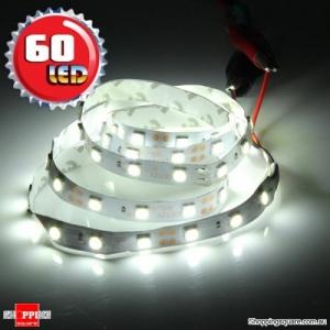 1M Non-Waterproof 5050 SMD 60LED Flexible LED Strip Light 12V Cool White Colour