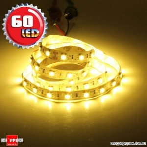 1M Non-Waterproof 5050 SMD 60LED Flexible LED Strip Light 12V Warm White Colour
