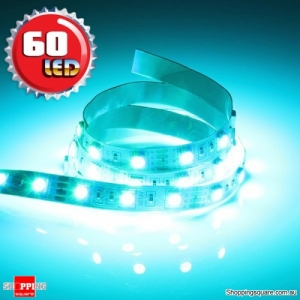 1M Non-Waterproof 5050 SMD 60LED Flexible LED Strip Light 12V Blue Colour