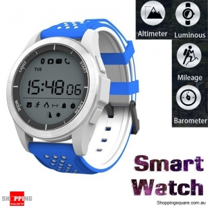 NO.1 F3 IP68 Waterproof Bluetooth Smart Watch For iPhone Android - Blue & White Colour