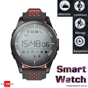 NO.1 F3 IP68 Waterproof Bluetooth Smart Watch For iPhone Android - Red & Black Colour