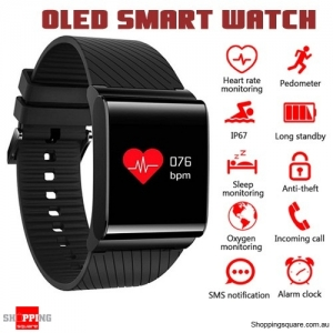 X9-PRO OLED IP67 Waterproof Smart Watch Bracelet for Blood Pressure Heart Rate SPO2 Health Monitor Black Colour