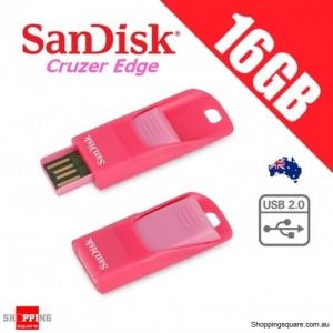 Sandisk Cruzer Edge CZ51 16GB USB 2.0 Flash Drive Pendrive Thumb Memory Stick Pink