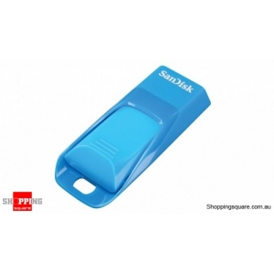 Sandisk Cruzer Edge CZ51 16GB USB Flash Drive Blue Color