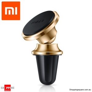 Genuine Xiaomi ROIDMi Z1 Car Air Vent Magnetic Stand Mount Holder for iPhone Android Gold Colour