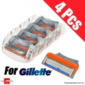 4pcs of 5 Layers Shaving Razor Blades Shaver Heads Replacement Spare for Gillette